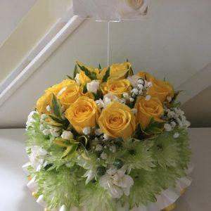 Funeral round posies - Petal Stems