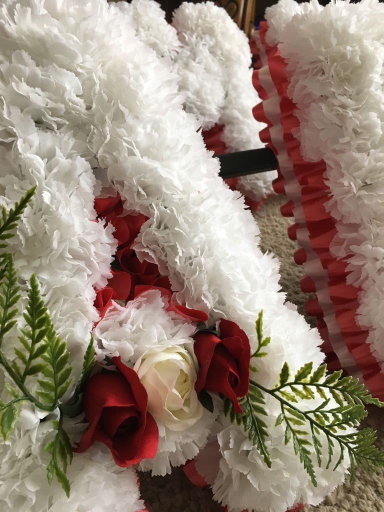 Funeral Lettering Petal Stems