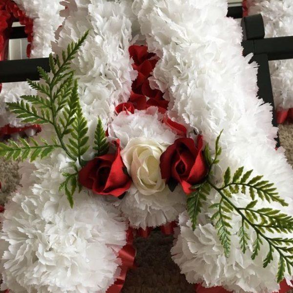 funeral lettering floral arrangements